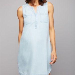 A Pea in the Pod Sleeveless Chambray Dress NWT XS